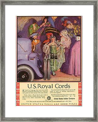 Us Royal Cords 1924 1920s Usa Cc Cars Framed Print by The Advertising Archives