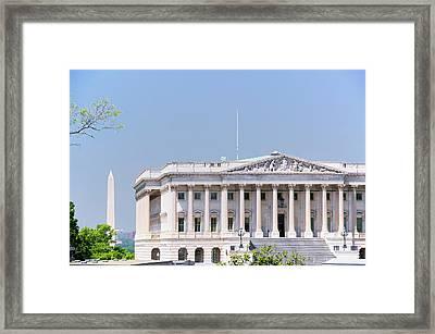 U.s. Senate Side Of U.s. Capitol Framed Print