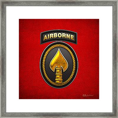 U. S. Special Operations Command - U S S O C O M Patch Framed Print by Serge Averbukh