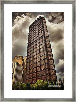 Us Steel Building Pittsburgh Hdr Framed Print by Amy Cicconi