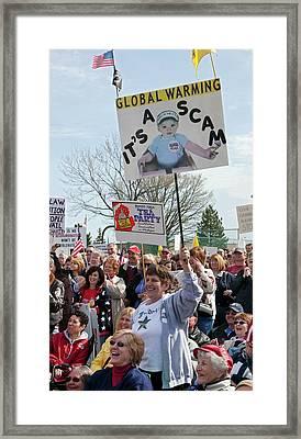Us Tea Party Rally Framed Print