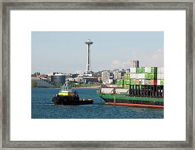 Us, Wa, Seattle, Puget Sound, King Framed Print by Trish Drury