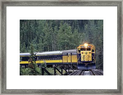Usa, Alaska, Alaska Railroad, Denali Framed Print by Gerry Reynolds