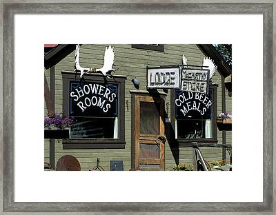 Usa, Alaska, Mccarthy, Wrangell St Framed Print by Gerry Reynolds