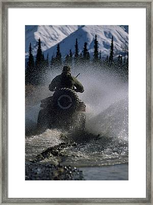 Usa, Alaska, Park Ranger, All Terrain Framed Print by Gerry Reynolds