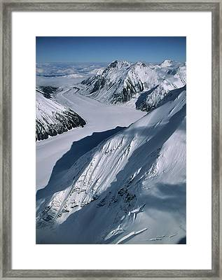 Usa, Alaska, Peters Glacier, Aerial Framed Print by Gerry Reynolds