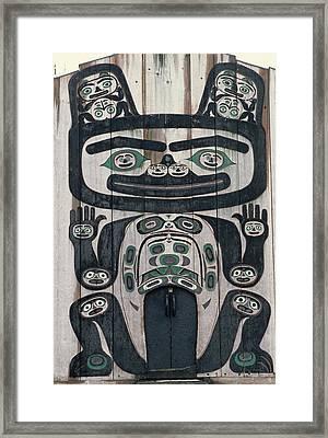 Usa, Alaska, Wrangell, Tlingit Tribal Framed Print by Gerry Reynolds