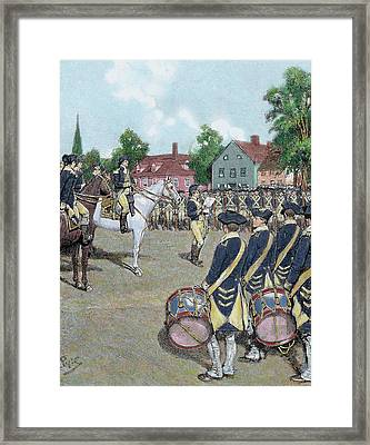 Usa American War Of Independence Framed Print by Prisma Archivo