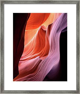 Usa, Arizona, Antelope Canyon, Antelope Framed Print