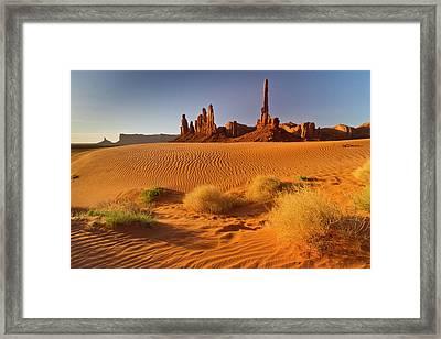 Usa, Arizona, Monument Valley Navajo Framed Print