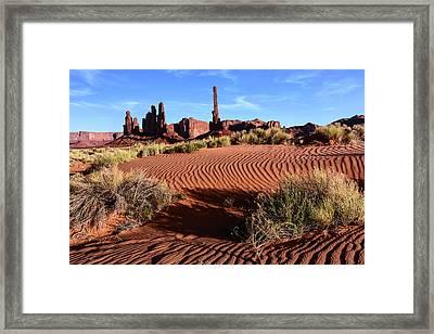 Usa, Arizona, Monument Valley, Totem Framed Print by John Ford