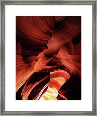 Usa, Arizona, Page, View Of Antelope Framed Print by Adam Jones