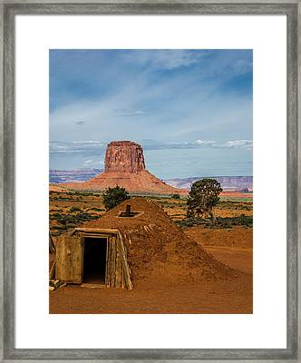 Usa, Arizona, Utah, Navajo Reservation Framed Print