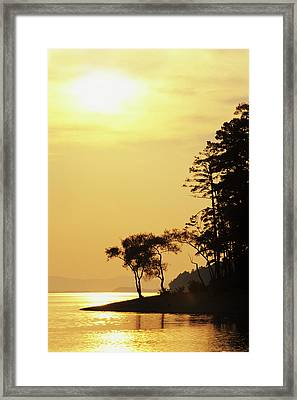 Usa, Arkansas Sunset On Lake Ouachita Framed Print by Jaynes Gallery