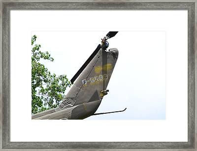 Usa Army Helicopter Tail Framed Print by Kim Stafford