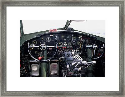 Usa, B-17 Bomber Aircraft, Cockpit Framed Print by Gerry Reynolds