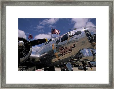 Usa, B-17 Bomber Aircraft, Salinas Framed Print by Gerry Reynolds