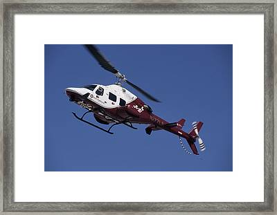 Usa, Boise, Life Flight Helicopter Framed Print