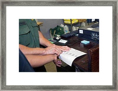 Usa Border Control Framed Print by Jim West