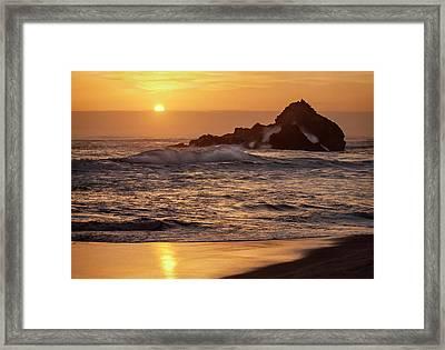 Usa, California, Big Sur Framed Print by Ann Collins