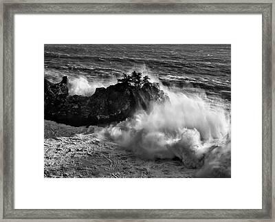 Usa, California, Big Sur, Big Wave Framed Print by Ann Collins