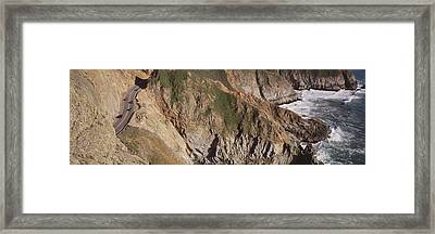 Usa, California, Big Sur, Pacific Coast Framed Print by Panoramic Images
