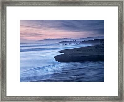 Usa, California, Cambria, Dusk Framed Print