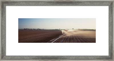 Usa, California, Central Valley Framed Print