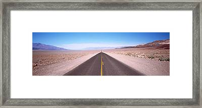 Usa, California, Death Valley, Empty Framed Print