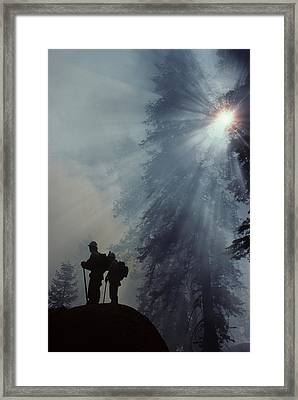 Usa, California, Forest Fire, Sequoia Framed Print