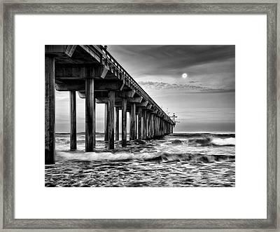 Usa, California, La Jolla, Full Moon Framed Print by Ann Collins