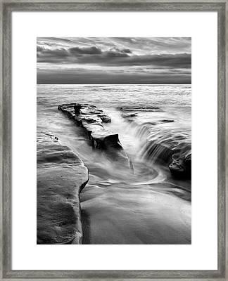 Usa, California, La Jolla, Rising Tide Framed Print