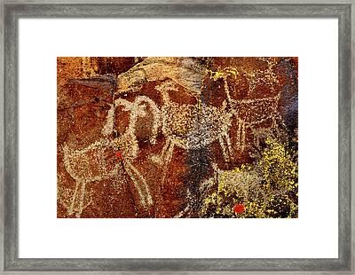 Usa, California, Little Petroglyph Framed Print