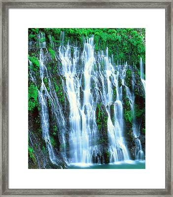 Usa, California, Mcarthur-burney Falls Framed Print
