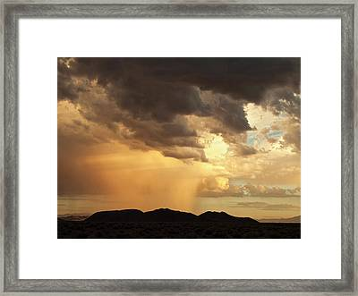 Usa, California, Mojave National Framed Print