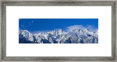 Usa, California, Mount Whitney Framed Print by Panoramic Images