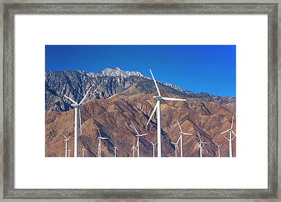 Usa, California, Palm Springs, Wind Farm Framed Print by Tetra Images
