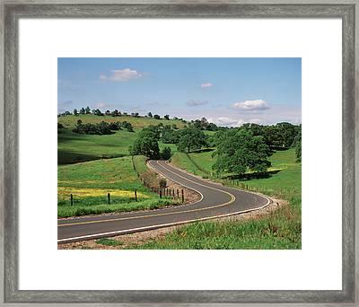 Usa, California, Road At Californian Framed Print by Zandria Muench Beraldo
