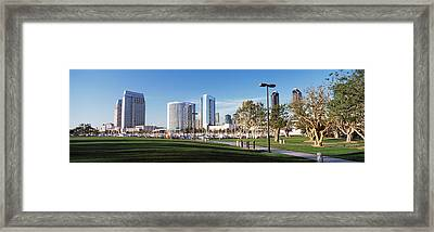 Usa, California, San Diego, Marina Park Framed Print by Panoramic Images