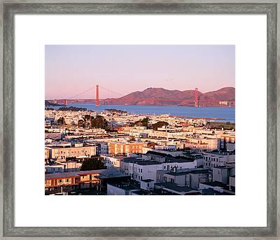Usa, California, San Francisco, Aerial Framed Print