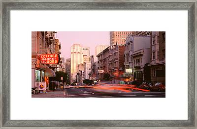 Usa, California, San Francisco, Evening Framed Print by Panoramic Images
