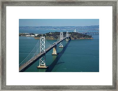 Usa, California, San Francisco?oakland Framed Print by David Wall