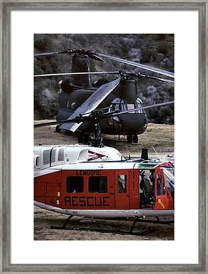 Usa, California, Search And Rescue Framed Print by Gerry Reynolds