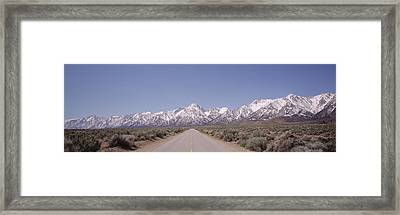 Usa, California, Sierra Nevada, Bushes Framed Print by Panoramic Images