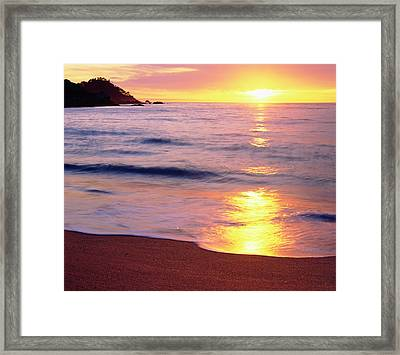 Usa, California, Sunset Framed Print by Jaynes Gallery