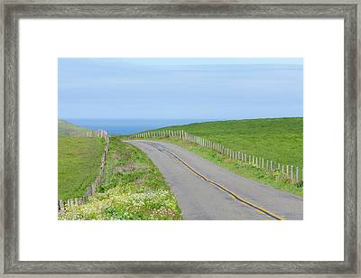 Usa, California Two-land Road Framed Print