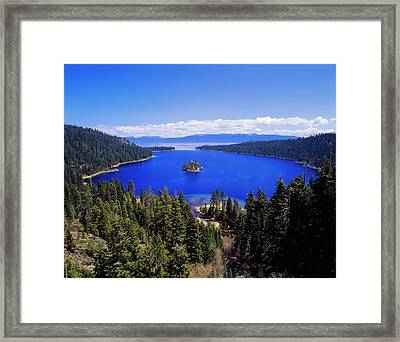 Usa, California, View Of Emerald Bay Framed Print