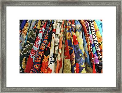 Usa, Closet Full Of Aloha Shirts Framed Print