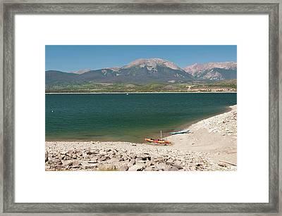 Usa, Co, Dillon Reservoir Framed Print by Trish Drury