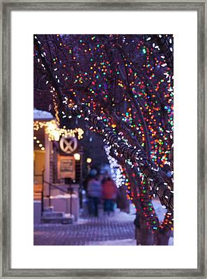 Usa, Colorado, Aspen, Christmas Tree Framed Print by Walter Bibikow